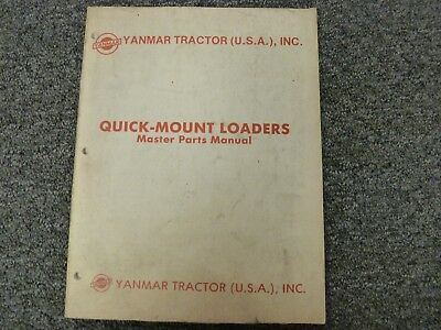 Yanmar Yfl 575 580 650 675 800 Quick Mount Loader Master Parts Catalog Manual