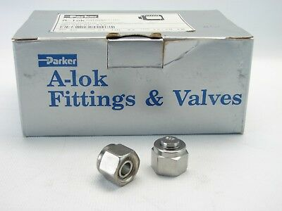 2 Parker A-lok 6blp6-316 38 Compression Tube Fitting Cap 316 Stainless Steel