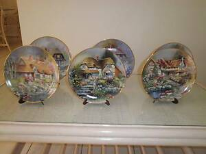 6 Cottage Collector Franklin Mint Plates Wurtulla Maroochydore Area Preview