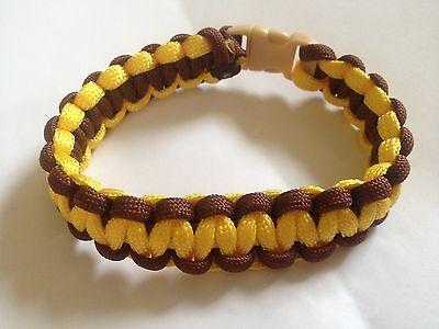 Paracord Bracelet Brown & Yellow (B0105)
