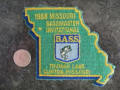 Rare Vintage Bassmaster Tournament Patch 1988 Missouri