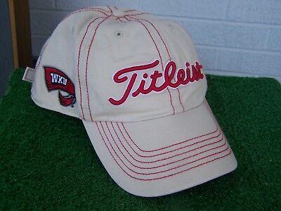 Titleist WKU Western Kentucky Hilltoppers Contrast Stitch Golf Hat Cap Khaki -