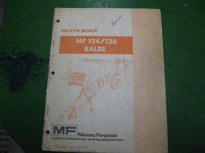 Massey Ferguson Mf124 Mf126 Mf 124 126 Baler Parts Book Original