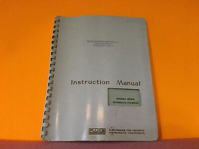Fluke Model 825a Differential Voltmeter Instruction Manual