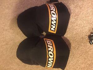 Brown goalie knee pads