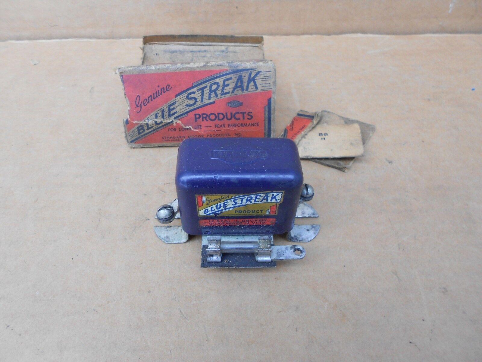 Vintage Blue Streak Voltage Regulator NOS 1930's 1940's Buick Chevy Ford Dodge