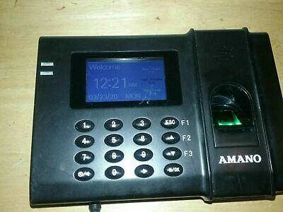 Amano Fpt-80 Time Guardian Biometric Time Clock System Fingerprint Time Tracking