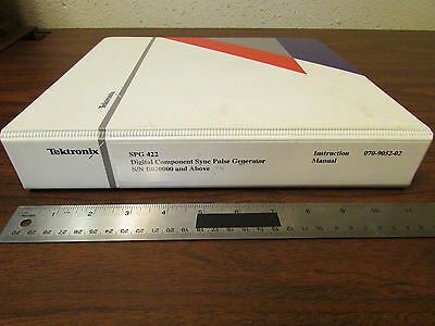Tektronix Spg 422 Sync Pulse Generator Instruction Manual 070-9052-02