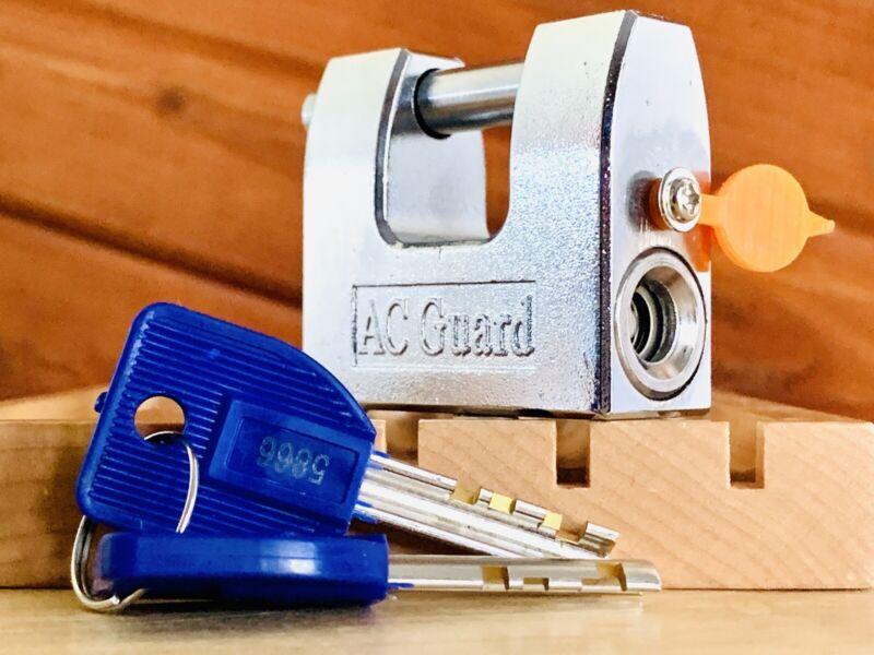 AC Guard High Security Hitch DD Padlock w/ 2 Keys Locksport Disc Detainer