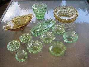 Depression Glass Bulk Lot ..... Green & Brown Cabramatta West Fairfield Area Preview