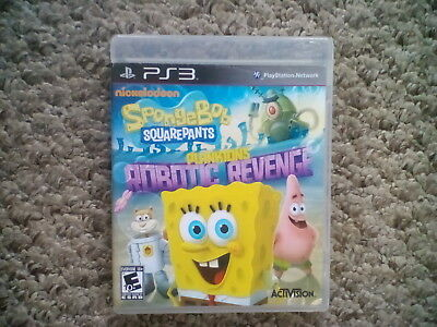 SpongeBob SquarePants: Plankton's Robotic Revenge - PS3 (Ps3 Games Spongebob)