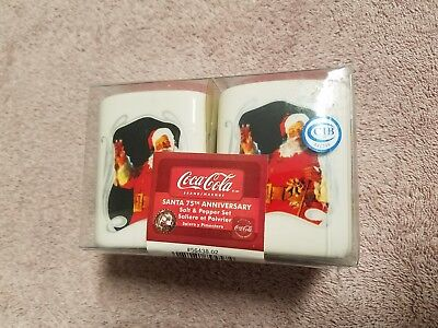 coca cola salt and pepper shakers 75th anniversary