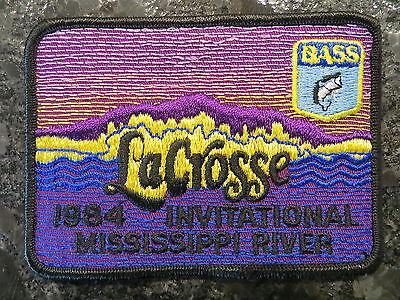 Rare Vintage Bassmaster Tournament Patch 1984 Mississippi River