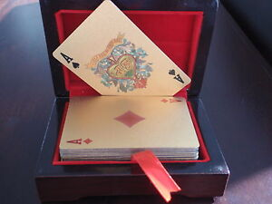 24KT GOLD FOIL PLAYING CARDS 999.9 GOLD FOIL CARDS