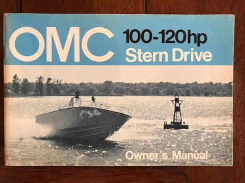 1972 OMC 120HP STERNDRIVE OWNERS MANUAL