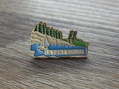 Pin's Vintage Lapel Pins Advertising La Font Red Lot G178