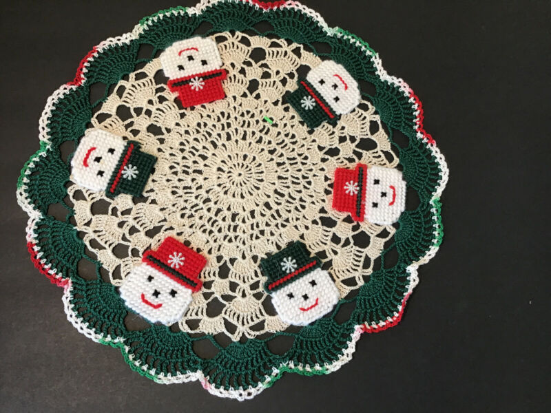 "Brand New Hand Crocheted 15 1/2 "" Centerpiece Doily"