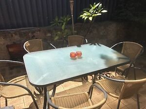Outdoor Setting - Glass - Excellent condition Wanneroo Wanneroo Area Preview
