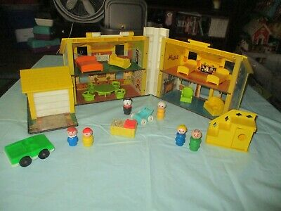 Vintage Fisher Price Little People  Yellow House