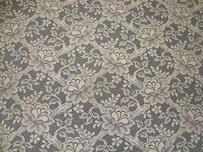 """NEW One LACE CROCHET TABLECLOTH ROSES lattice Ivory 62"""" x 78"""