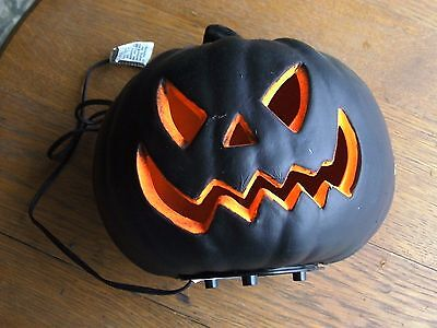 Black Blow Mold Lighted up Pumpkin 8' Halloween Prop Window Display