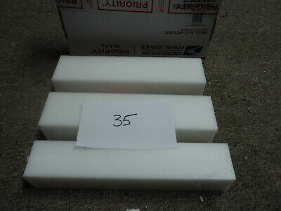 White Delrin Acetal Sheet Block Cnc Mill 3 Pieces 35