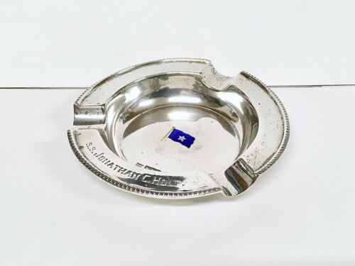 S.S. Jonathan C. Holt Sterling Silver Walker & Hall Ashtray