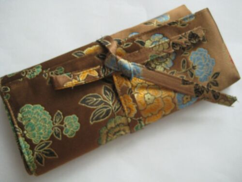 Silk Roll CASE organizer for crochet hook short Knitting needle 5 designs