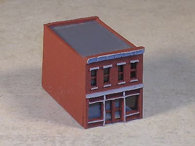 Z Scale Red Brick Two Story Bakery