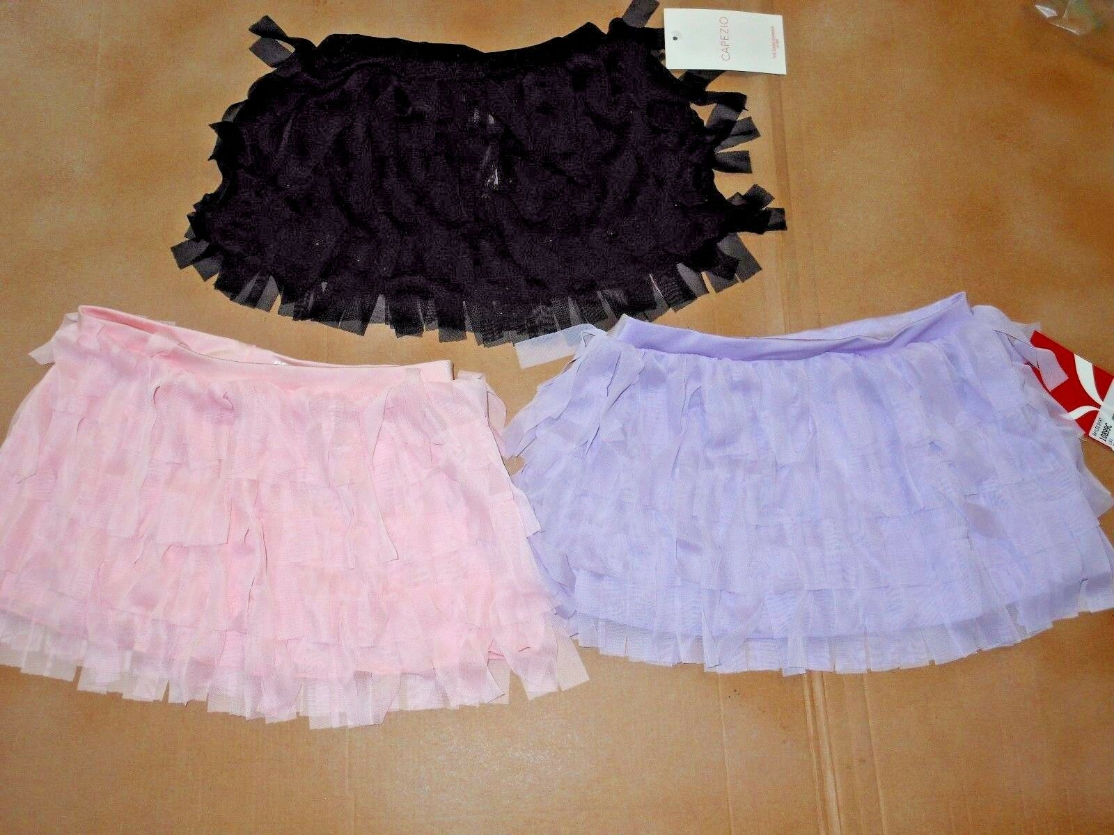 NWT Capezio 10899C Mesh Fringie dance skirt 3 colors girls s