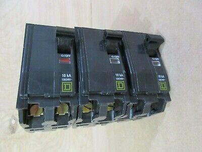 Square D Qob230 Circuit Breakers Lot Of 3 30a 2p 120240v Bolt On A161