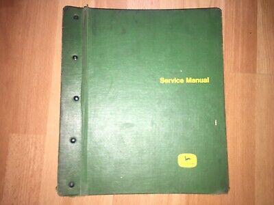 John Deere 6600 7700 Combine Factory Technical Service Manual Tm1021