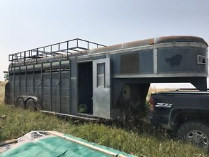 6 Horse Angle Haul Trailer $3000 or trade for cattle