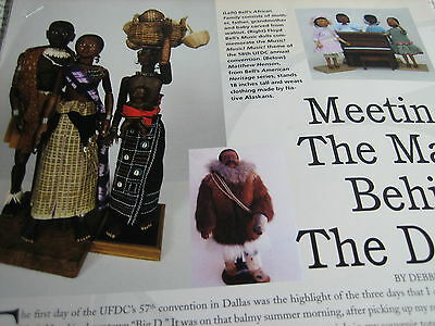 2pg Floyd Bell Doll MAGAZINE Article MAN BEHIND THE DOLLS / Debbie Behan Garrett for sale  Shipping to India