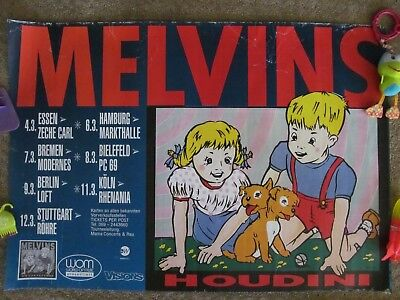 The Melvins HOUDINI Tour Concert Poster - Germany 1993 - Kozik