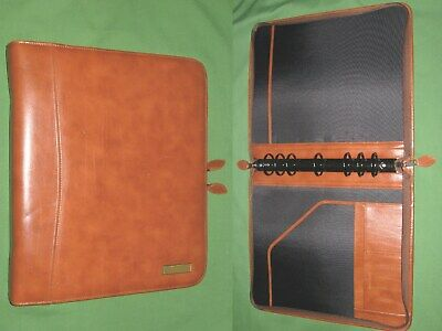 Folio 1.5 Brown Leather Day Timer Planner 8.5x11 Monarch Franklin Covey 310