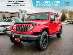 2015 Jeep WRANGLER UNLIMITED 4X4, REMOTE START, TRAILER TOW, NAV