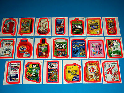 """2010 Wacky Packages All New Series 7 {ANS7} """"PINK BORDER"""" Complete Set + Wrapper"""