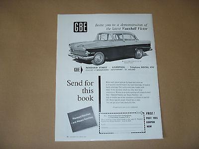1960 VAUXHALL VICTOR ADVERT - GBE LIVERPOOL