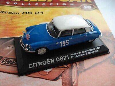 CITROEN DS21- RALLYE MONTE CARLO - 1966 - CITROEN DS 21 MODEL CAR - + MAGAZINE