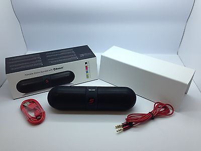 LOT OF 5 NEW BLUETOOTH SMOOTH PORTABLE STEREO SPEAKER WIRELESS UNIVERSAL BLACK