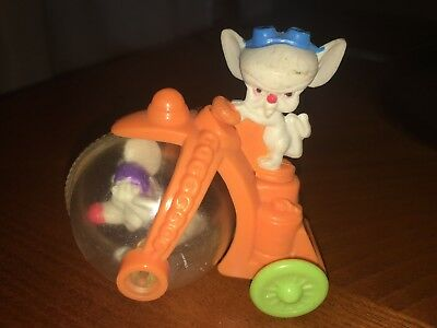 Pinky and the Brain figure experiment in progress rolling toy Vintage 1993