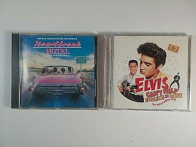 Lot 2 Elvis Presley Soundtracks Can't Help Falling In Love & Heartbreak Hotel CD