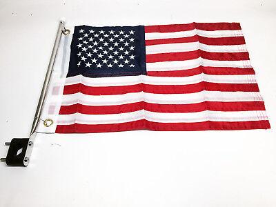 "S.S Rail Mount Flag Pole for 12/"" X 18/"" Flag USA BL29562461"