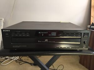 Sony Cdp-c225 HD Linear Converter 5 Disc Cd Player
