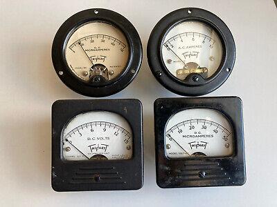Vintage Triplett Panel Gauge Dc Amperes Model 327-t 331 321 0327 Meter Steampunk