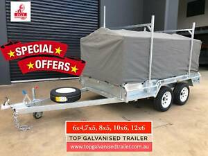 10x5 Tandem Trailer Galvanised with 900mm Cage Canvas Cover 2000kg ATM Toorak Stonnington Area Preview