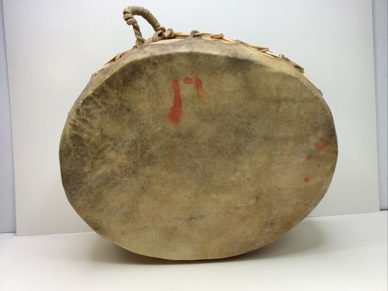 12 X 10 RAWHIDE DRUM COCHITI RAY From COCHITI PUEBLO Double Sided