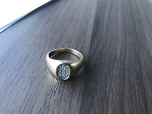 Gold and diamond men's ring