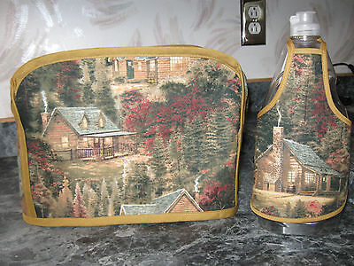 Thomas Kinkade Cottages cotton fabric Handmade 2 slice toaster cover (ONLY)